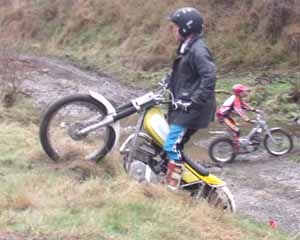Horsford Downs Classic Trials Simon Jones. Yamaha TY250