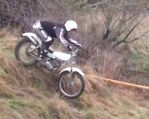 Horsford Downs Classic Trials Ian Kimpton. Yamaha TY175