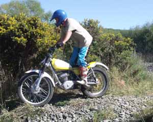 Classic Trials at Loburn, S Jones. Yamaha TY250