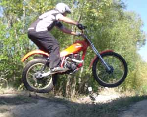 Classic Trials at Loburn, Andy Beale. Honda TLR