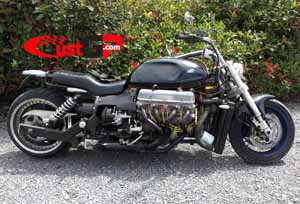 Bob's V8 3500cc custom muscle motorcycle on CustGp.com