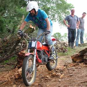 Spencerville Classic Trials, Dave Davies. Honda TLR200