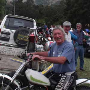 Mick Andrews at Living Springs Classic Trial with Ossa